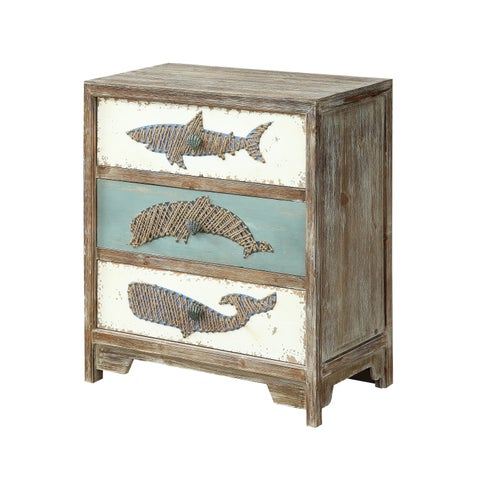 Treasure Trove Boardwalk Multicolor Small 3-drawer Accent Chest