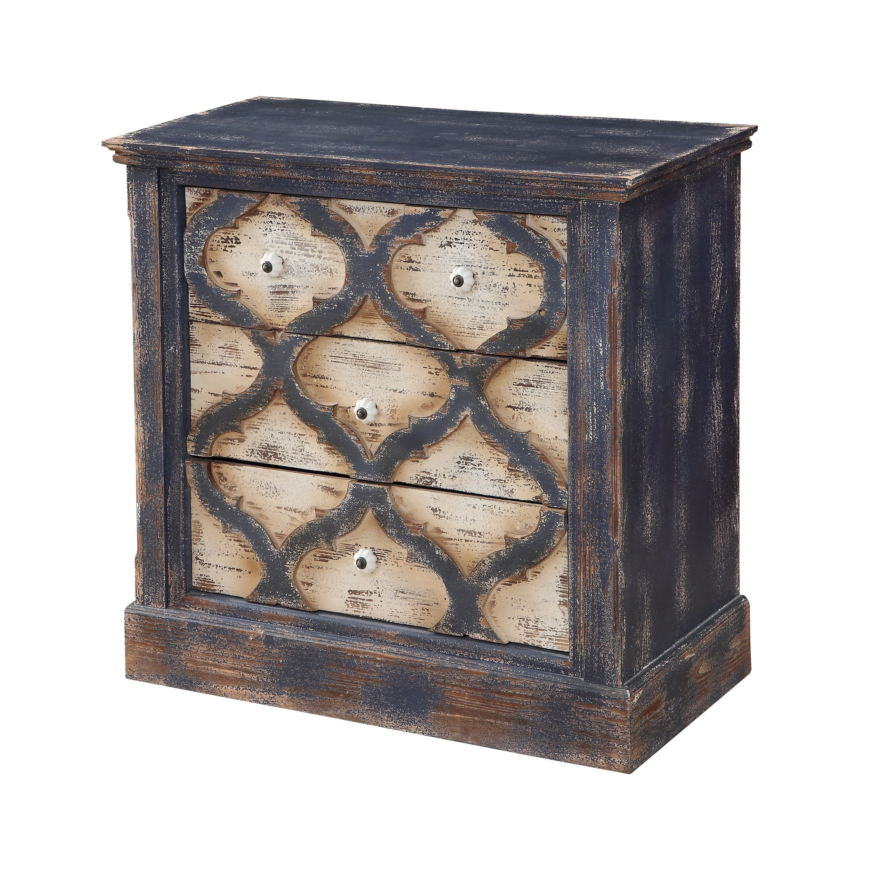 Treasure Trove Saybrook Blue Distressed Medium 3-drawer Chest