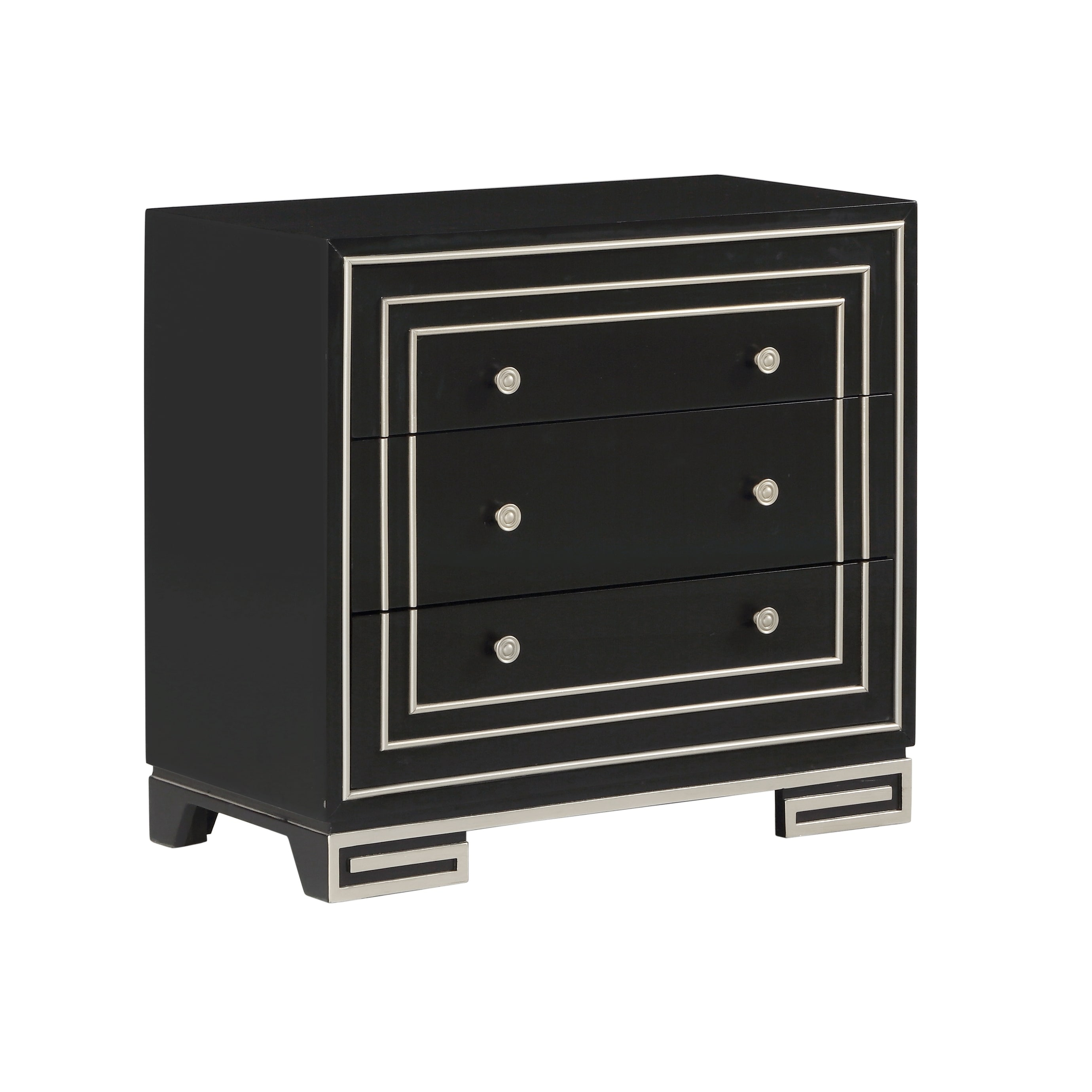 Treasure Trove Bliss Black Small 3-drawer Chest