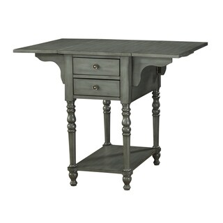 Treasure Trove Small Drop Leaf 2-drawer Accent Table (Grey)