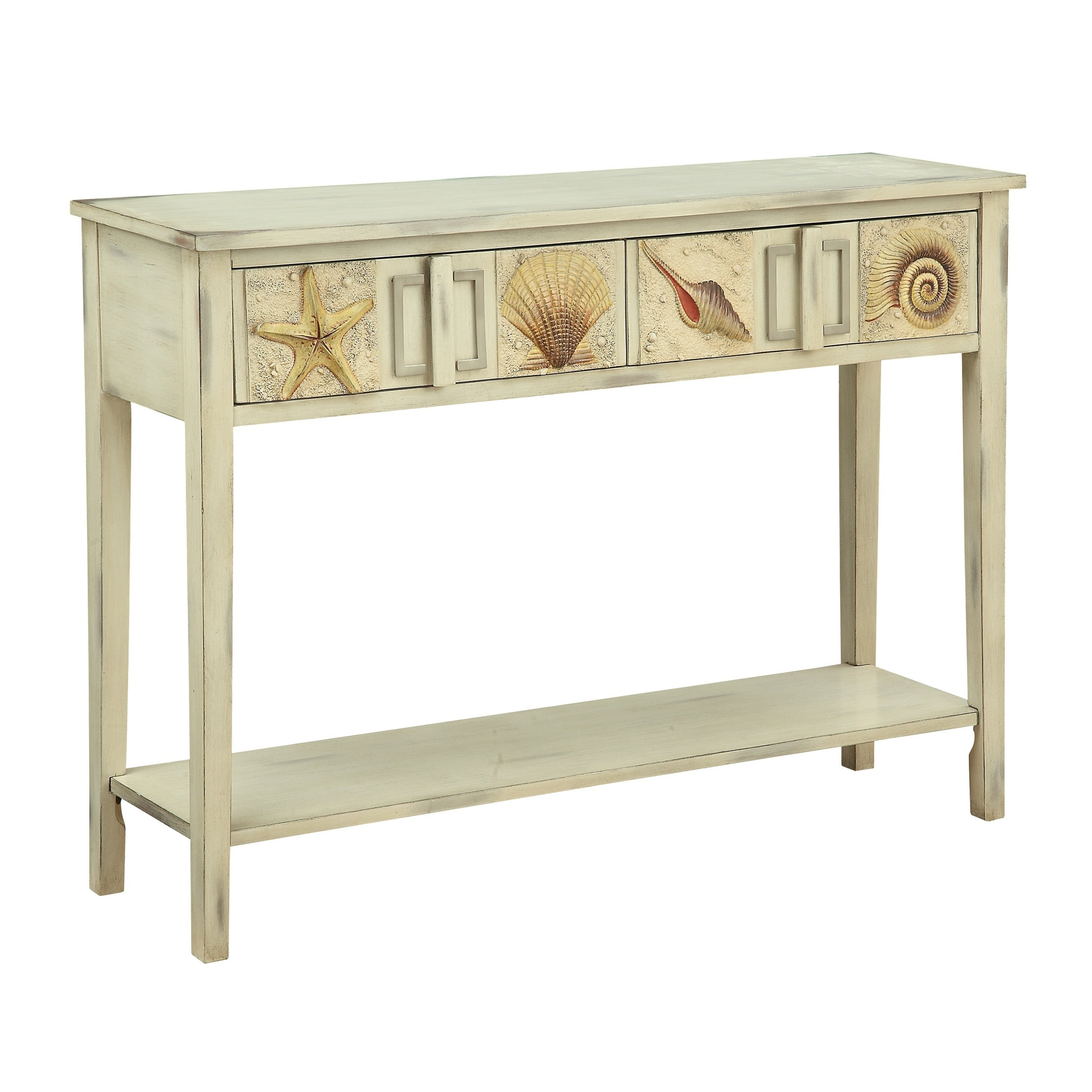 Treasure Trove Surfside Shoals Distressed Sand 2-drawer Console Table