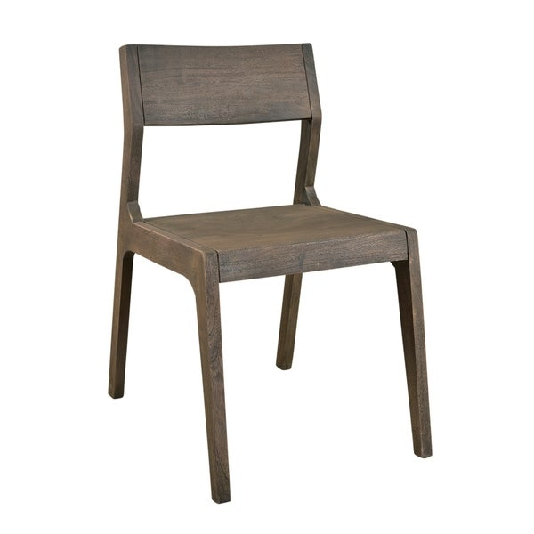 Merveilleux Treasure Trove Tundra Smokey Grey Wood Dining Chairs (Set Of 2)