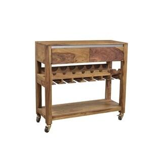 Treasure Trove Kingston Brown Small 2-drawer Wine Server