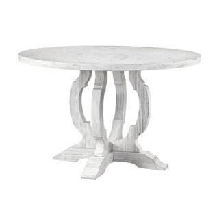 Treasure Trove Orchard Park White Rub Medium Round Dining Table