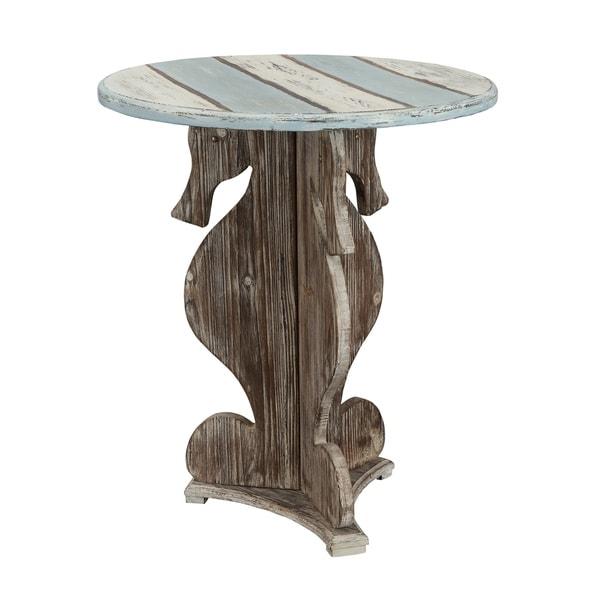 "Somette Seahorse Table, Islander Multicolor - 24""L x 24""W x 28""H"
