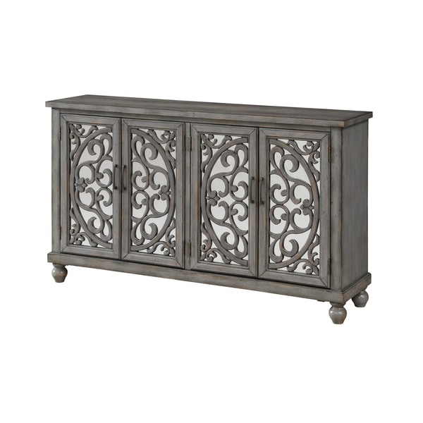 Treasure Trove Hammond Grey Rub Large 4-door Media Credenza