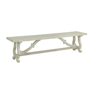 "Somette Orchard Park Dining Bench, White Rub - 70""W x 15""L x 18""H"