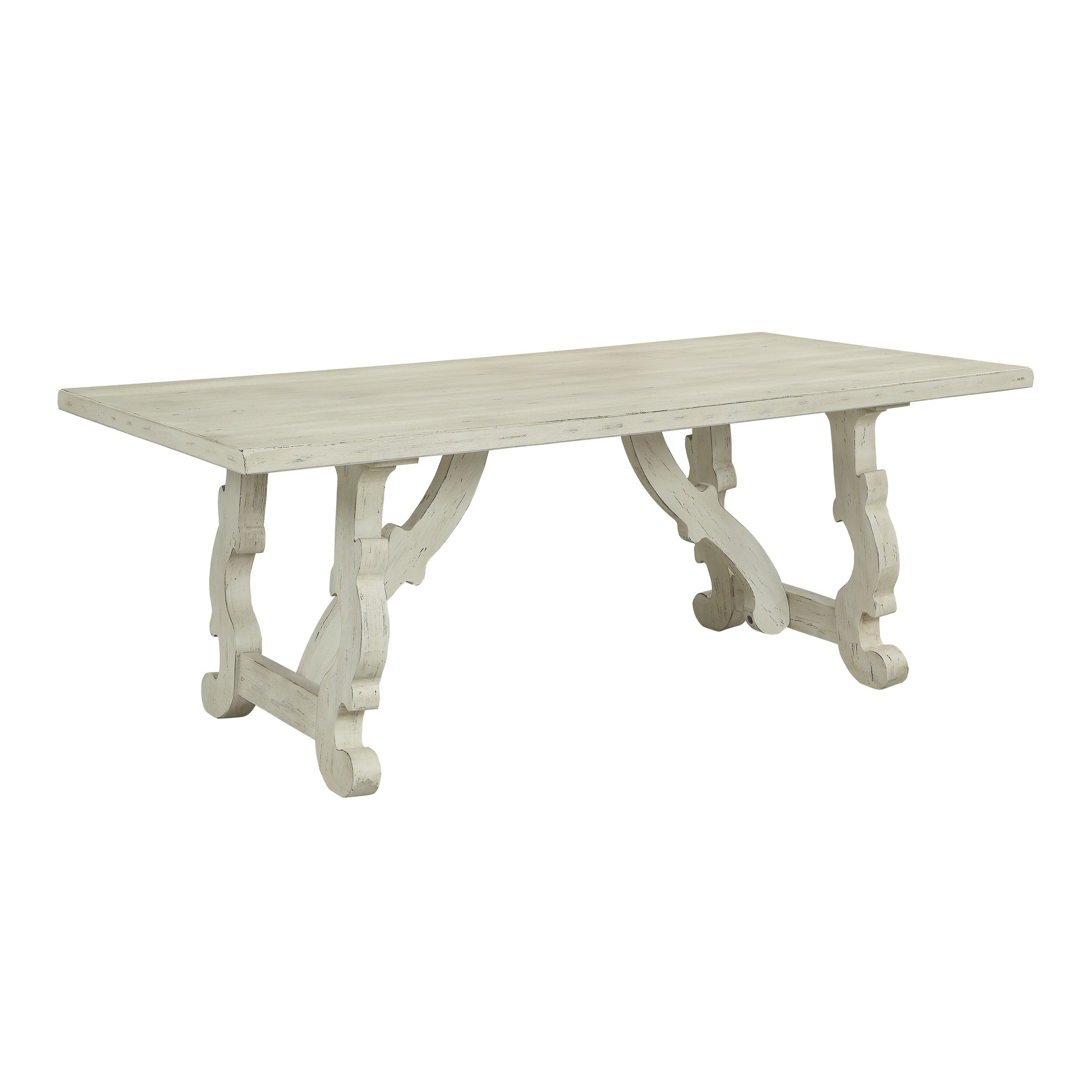 Treasure Trove Orchard Park White Rub Large Dining Table