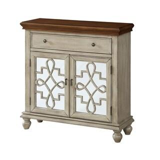 Treasure Trove Kendall Textured Beige 2-door 1-drawer Cabinet