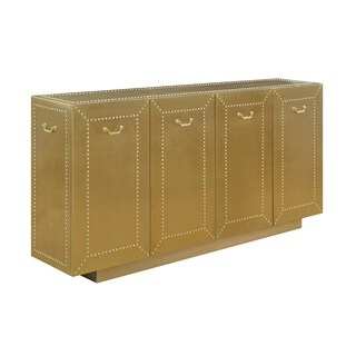 Treasure Trove Orleans Brushed Gold Large 4-door Credenza
