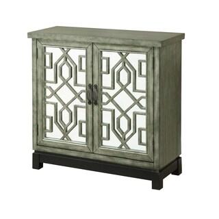 Treasure Trove Dublin Green and Black Medium 2-door Cabinet