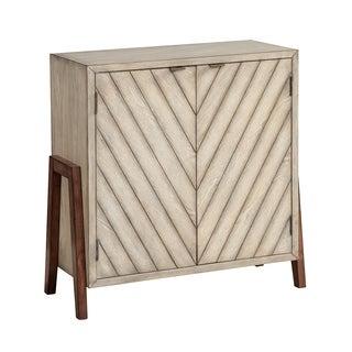 Treasure Trove Haywood Linen and Brown Medium 2-door Cabinet