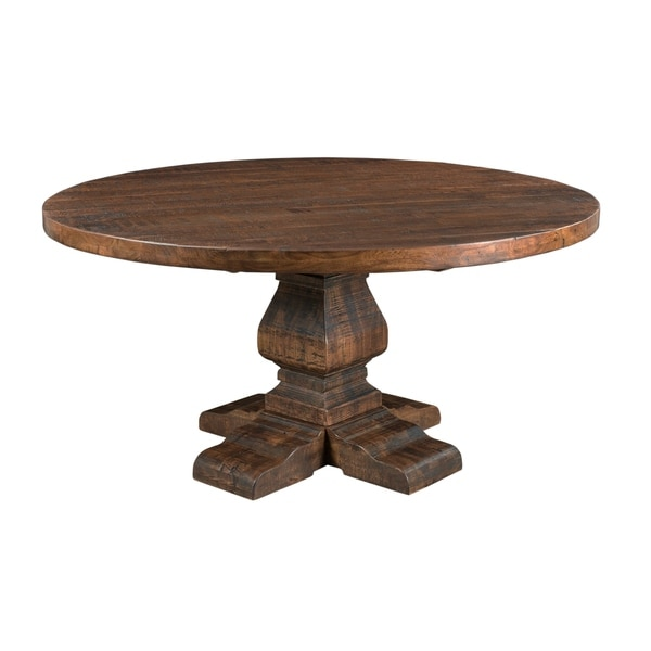 Bon Treasure Trove Woodbridge Distressed Brown Medium Round Dining Table