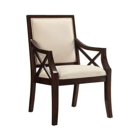 "Somette Accent Chair, Brown Cherry - 25""L x 27.5""W x 38.5""H"