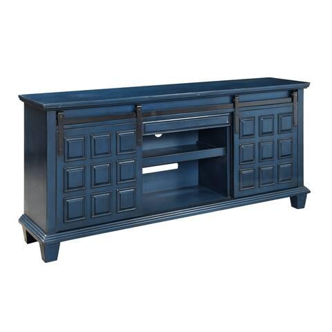 "Somette Two Door One Drawer Media Credenza, Ridge Blue - 72""W x 17""L x 33""H"