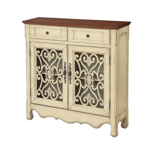 Treasure Trove Harvester Textured Cream 2-door 2-drawer Cupboard