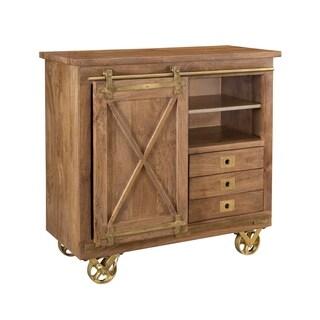 Treasure Trove Dunes Brown Medium 1-sliding Door 3-drawer Cabinet