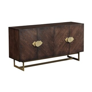 Treasure Trove Braxton Brown Large 4-door Media Credenza