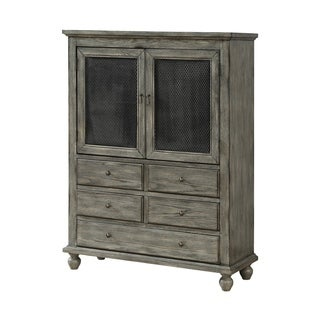 Treasure Trove Catskill Grey Blue Large 2-door 5-drawer Cabinet