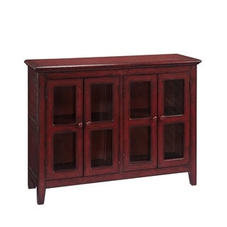Treasure Trove Lincoln Court Texture Red Medium 4-door Credenza