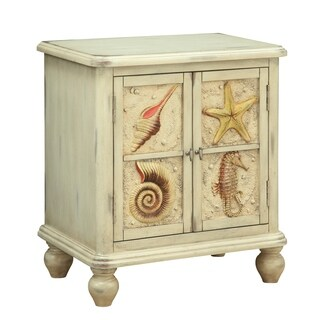 Treasure Trove Shoals Distressed Sand Small 2-door Cabinet