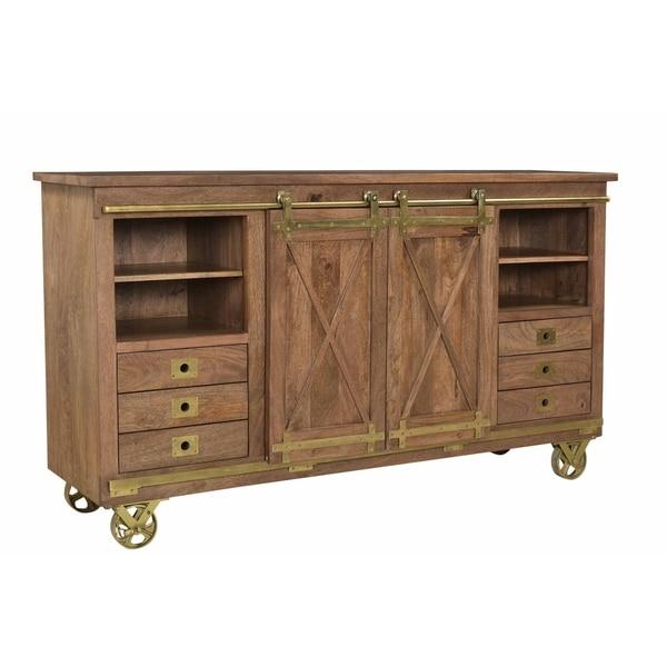 Treasure Trove Dunes Brown 2-sliding Door 6-drawer Media Credenza