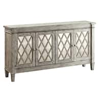 Treasure Trove Burkdale Ivory Rub-through Large 4-door Credenza