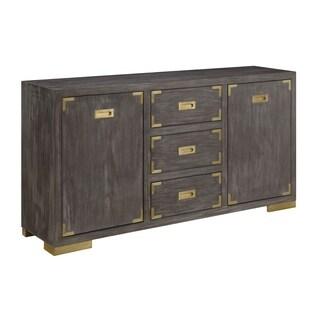 Treasure Trove Estate Antique Grey 2-door 3-drawer Media Credenza