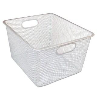 Alera Wire Mesh Nesting Shelving Baskets, Silver, 2/Set