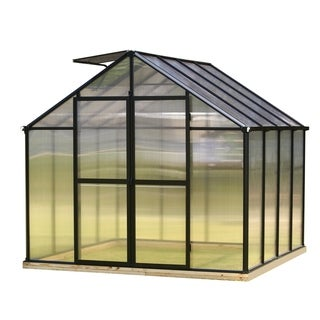Link to Monticello 8FT x 8FT Black Greenhouse w/ light diffusing walls and roof Similar Items in Gardening