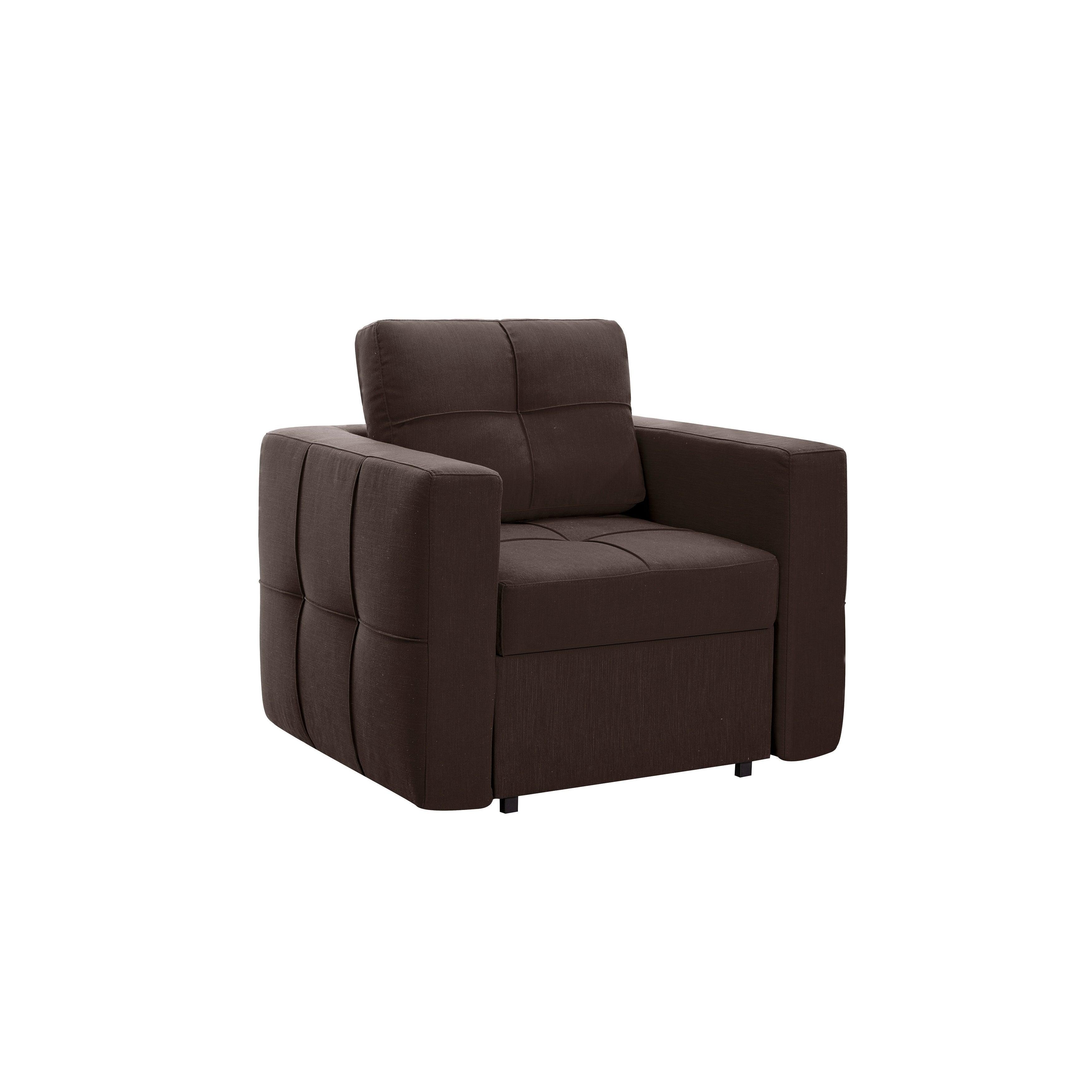 Serta Bakersfield Dream Java Convertible Sofa (Brown - Fabric)