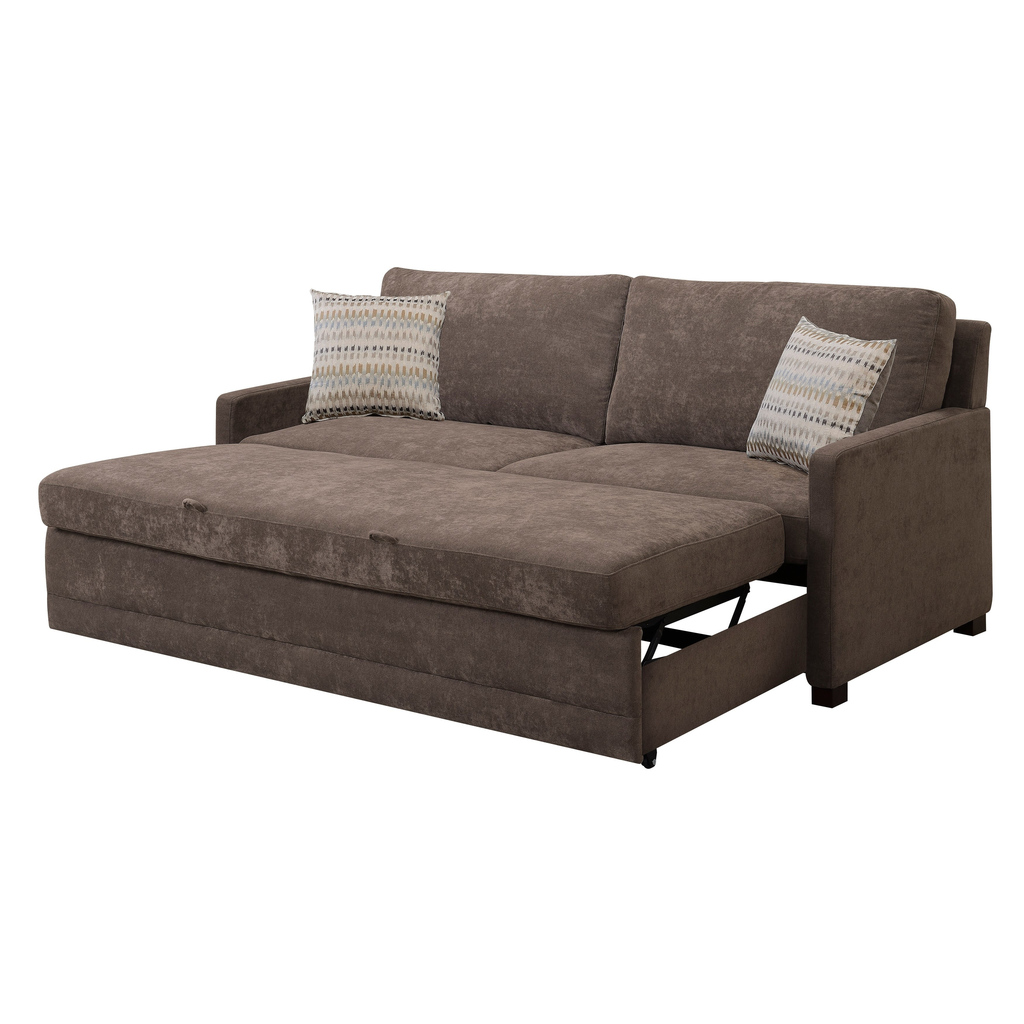 Serta Salinas Dream Convertible Sofa Queen Brown
