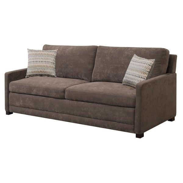 Shop Serta Salinas Dream Convertible Sofa Queen Brown