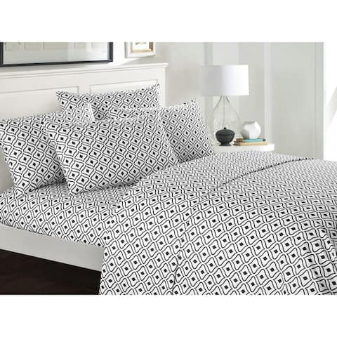 Chic Home Fawn 6 Piece Geometric Pattern Bed Sheet Set