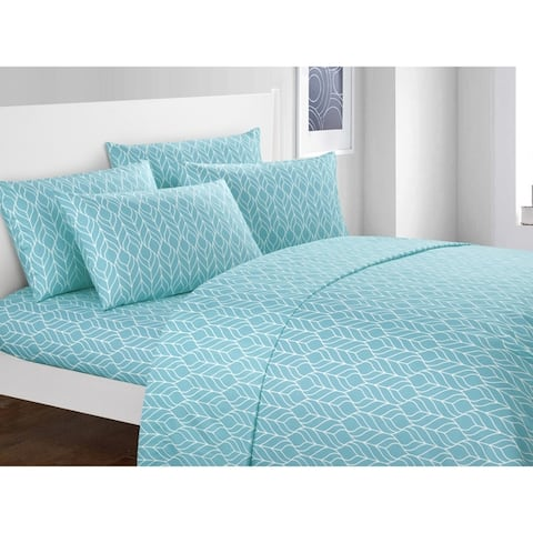 Chic Home Tuliptree 6 Piece Geometric Pattern Bed Sheet Set