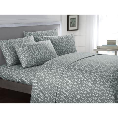 Chic Home Tuliptree 6 Piece Geometric Pattern Bed Sheet Set