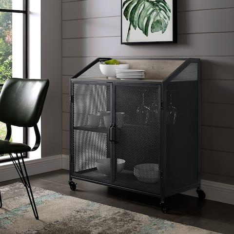 Carbon Loft Pierpont Industrial Mesh Bar Cabinet