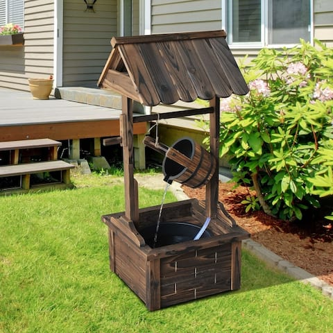 Accent Rustic Wishing Well Fountain