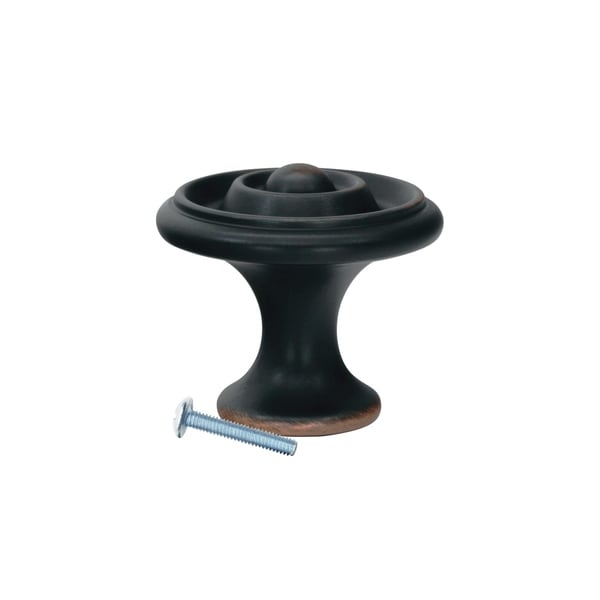 """5 Pack Orbit Ring Brushed Oil-Rubbed Bronze Cabinet Knob, 1-11/16"""" 37294967"""