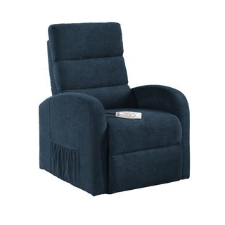 Serta Newbury Jive Petrol Blue Fabric Power Lift Recliner
