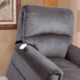 Serta Seattle Kohl Grey Upholstered Polo Club Chair (Lift Chairs - Grey)