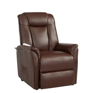 Serta Wilton Cognac Brown Reclining Chair
