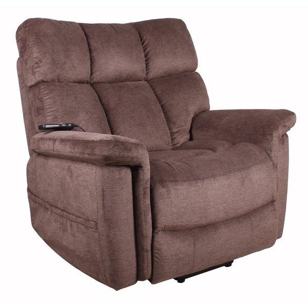 shop serta halifax polo club java fabric lift recliner chair free