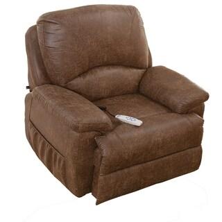 Serta Myra Brown Upholstered Tilt Chair