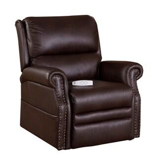 Serta Sorenson Viva Coco Brown Upholstered Reclining Lift Chair