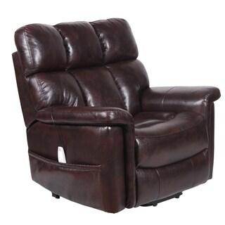 Serta Halifax Virtuoso Java Brown Upholstered Reclining Lift Chair