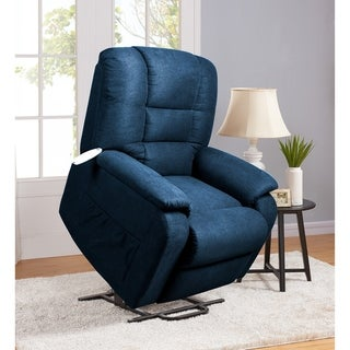 Serta Rockland Navy Upholstered Recliner Chair (Lift Chairs - Blue)