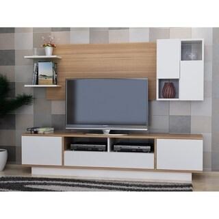 Luisa White/Oak-finish Wood TV Stand