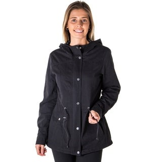 Ladies Zip Up Anorak Hooded Twill Jacket (More options available)