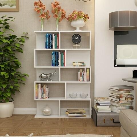 Ares White Matte Accent Bookcase